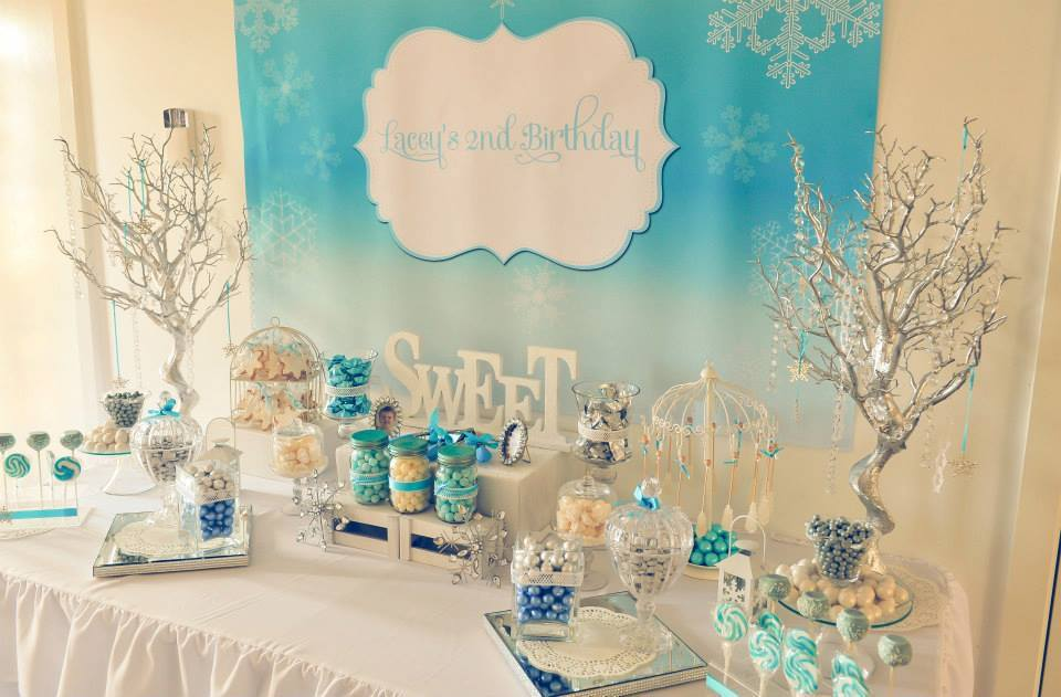 Frozen Winter Wonderland Printable Backdrop Little