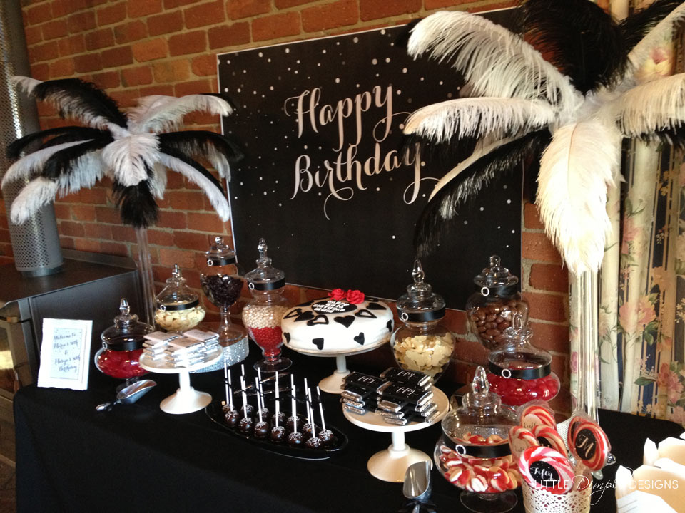 Black and White Birthday Backdrop | Little Dimple Designs