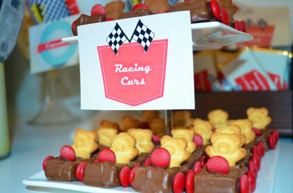 Retro Racing Car Food Labels
