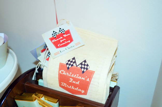 Retro Racing Car Party Favors