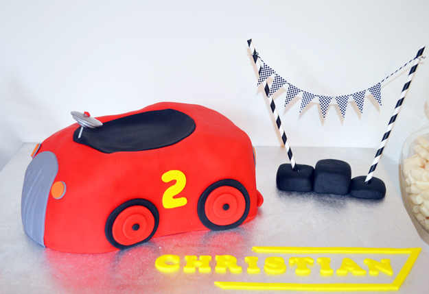 Retro Racing Car Party Table