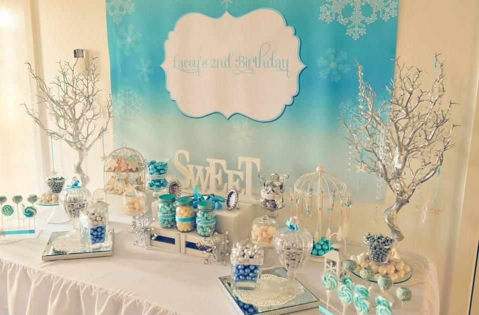 Frozen Winter Wonderland Printable Backdrop Little