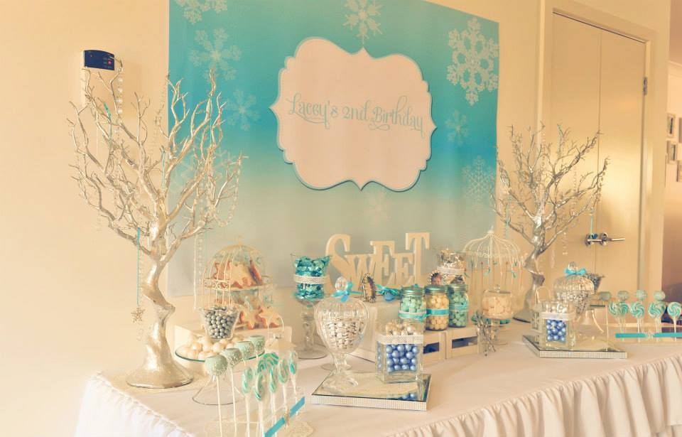 Frozen Winter Wonderland Candy Buffet Ideas Little