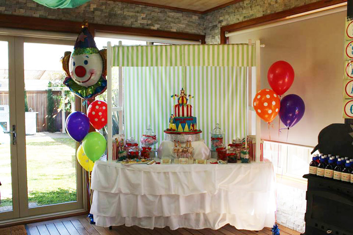 Circus Candy Table 1st Birthday