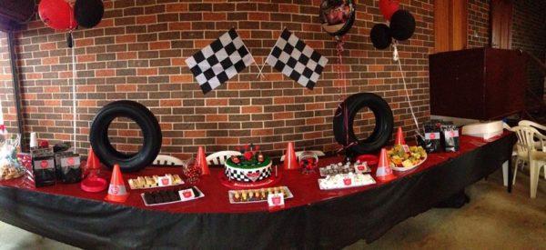 Retro Racing Car Party Table