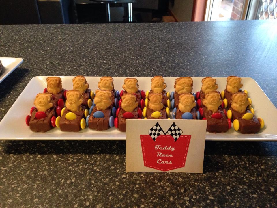 Teddy Race Cars