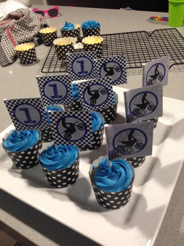 Motorbike / Motocross / Dirt Bike Cupcake Toppers
