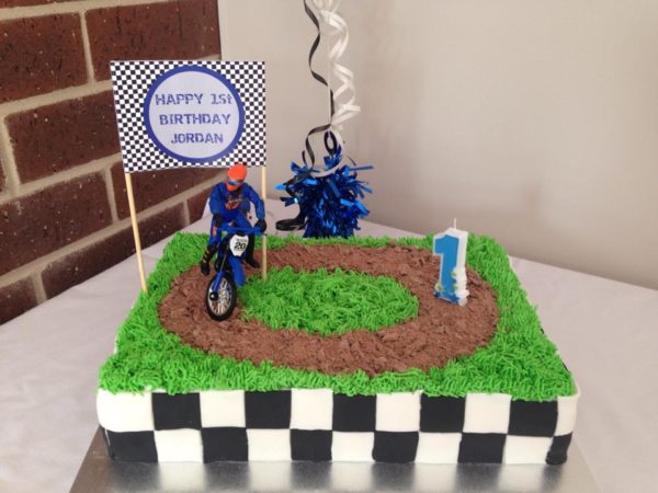 Motorbike / Motocross / Dirt Bike Birthday Cake Banner