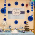 Navy and Blue Baptism Backdrop