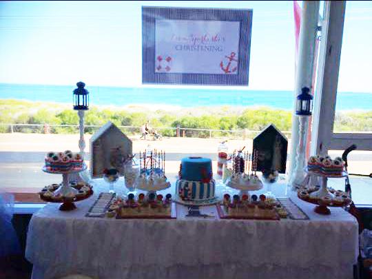 Nautical Theme Christening Candy Buffet