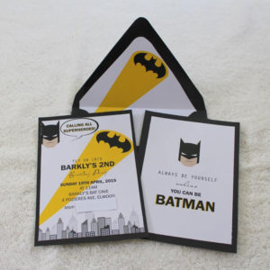 Barkley's Modern Batman Printable Invitation