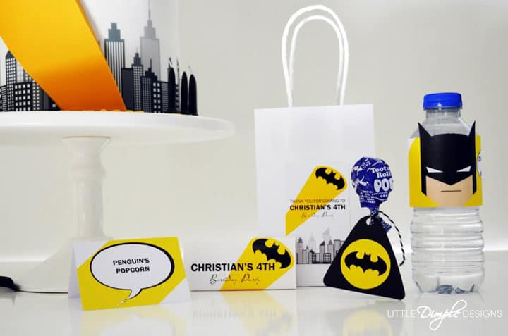 Modern Batman Basic Printable Party Package