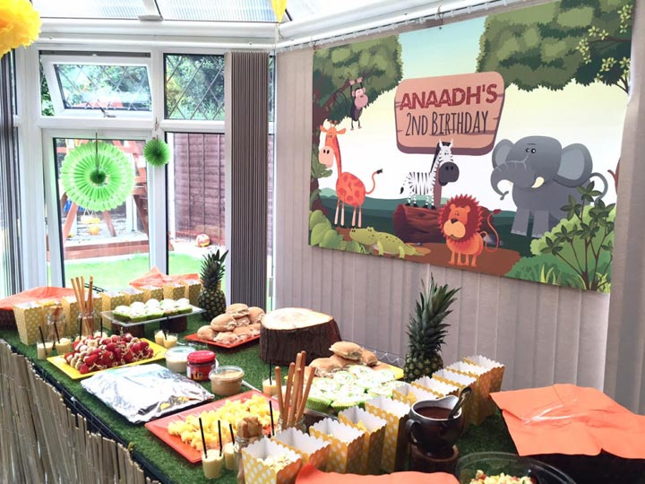 Jungle Birthday Party Dessert Table