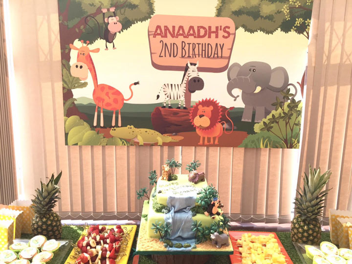 Jungle Birthday Party Backdrop