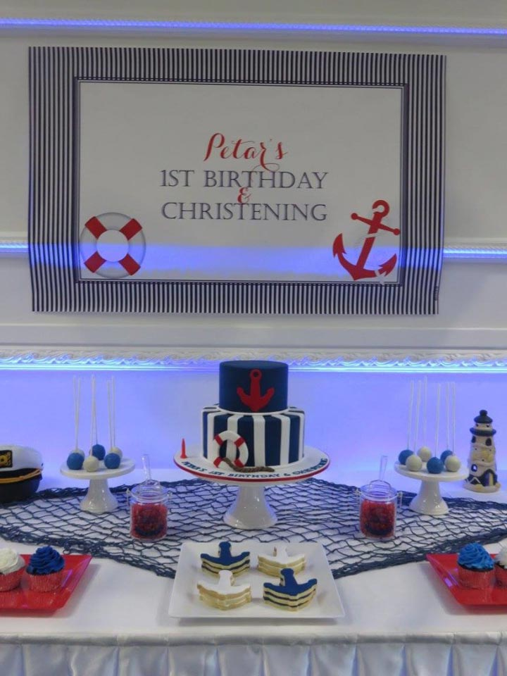 Nautical Christening Backdrop