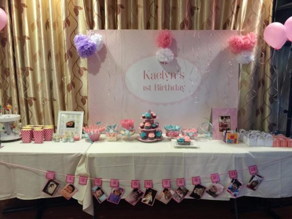 Pink and Lace 1st birthday party
