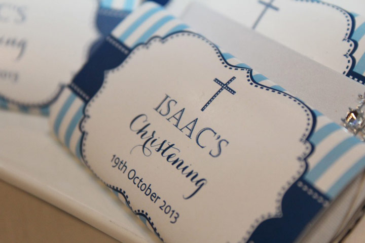 Navy Christening Candy Wrappers