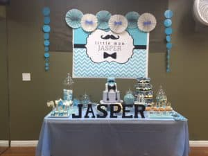 Little Man Backdrop for 1st Birthday