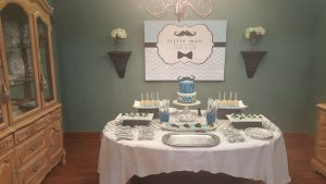 Little Man Backdrop for Baby Shower