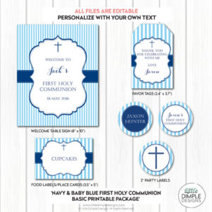Communion Decor Navy