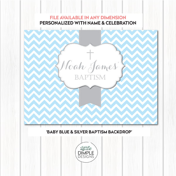 Baptism Backdrop Blue