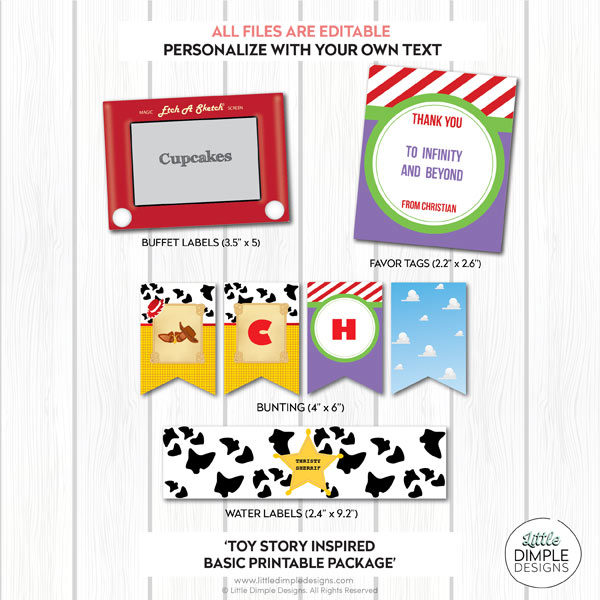 Toy Story Basic Printable Party Pack