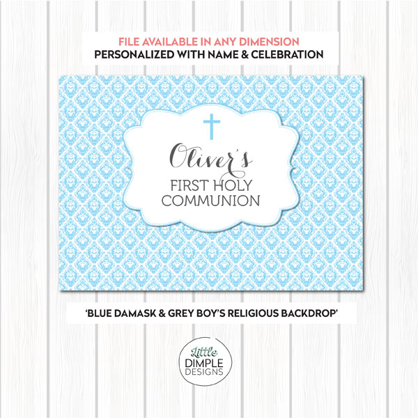 Communion Backdrop Blue Gray