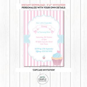 Printable Cupcake Invitation