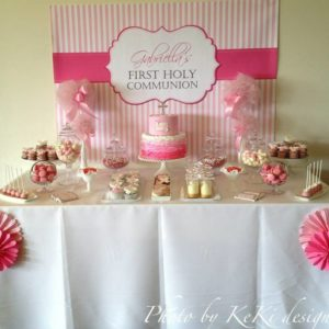 Gabriella's First Holy Communion Party Backdrop