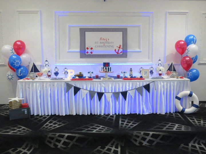 Nautical Baptism and 1st Birthday Candy Buffet Little