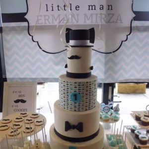 Little Man Cake and Backdrop