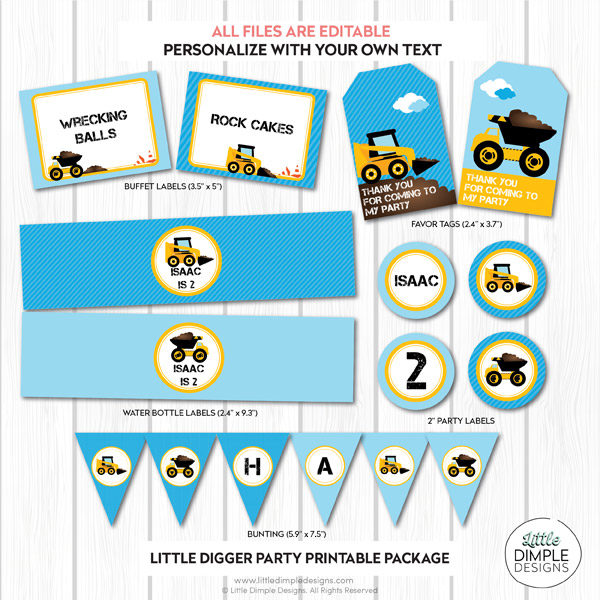 Construction Party Printable Pack