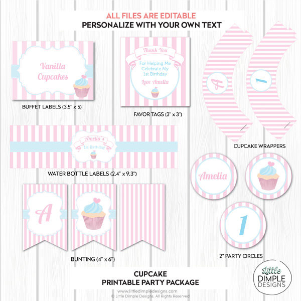 Cupcake Printable Party Pack