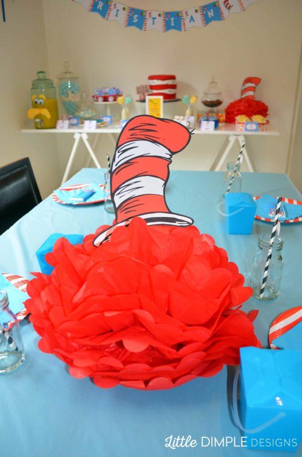 Dr Seuss Cat in the Hat Centerpiece