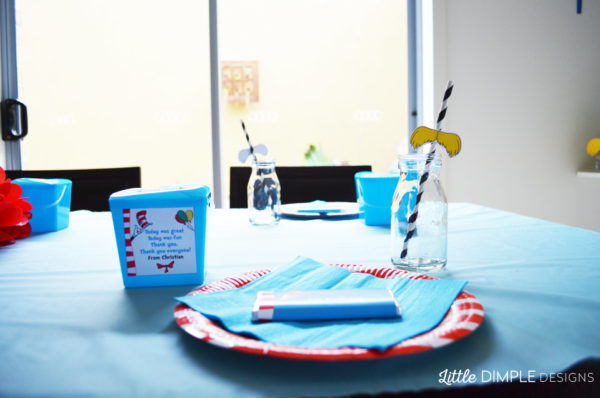 Dr Seuss Kid's Party Table Set Up