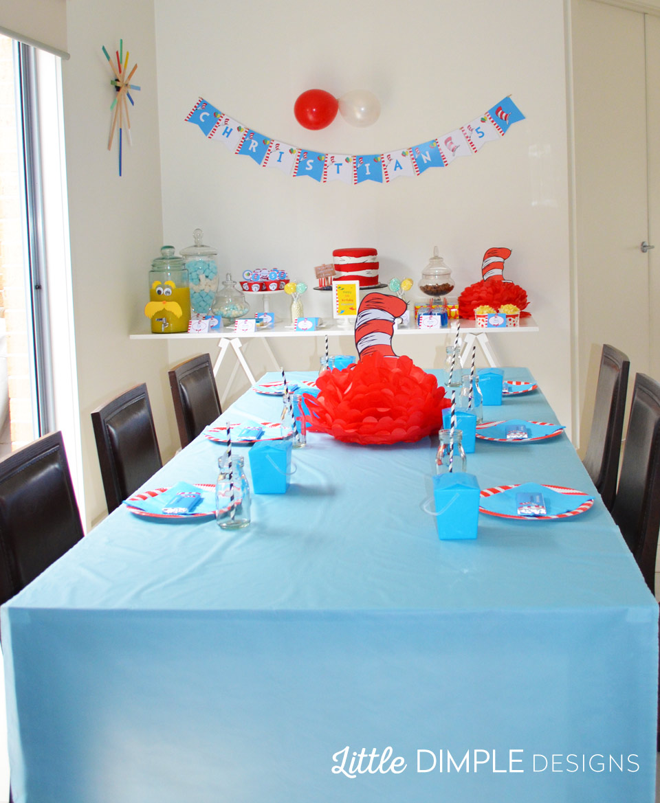 Dr Seuss Birthday Party Ideas For Candy Buffet Little Dimple Designs