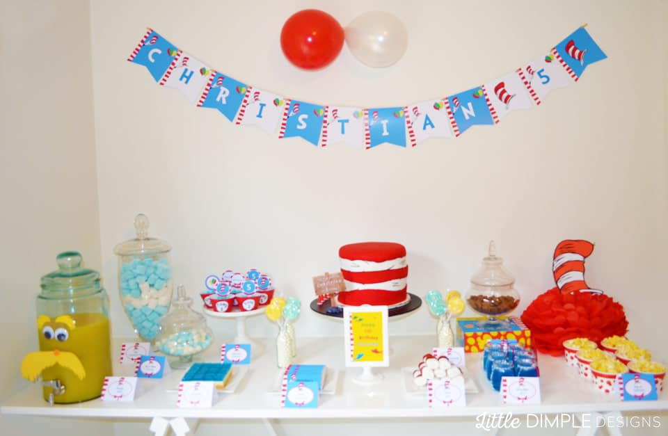Dr Seuss Party Table Ideas
