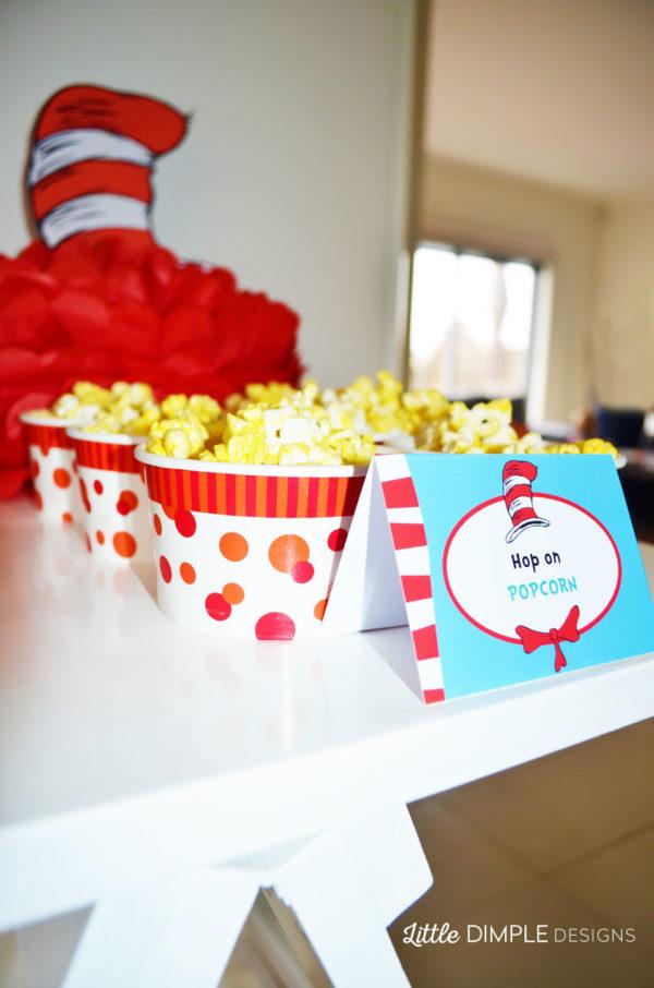 Dr Seuss Popcorn Food Label
