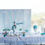 hot air balloon party ideas with backdrop