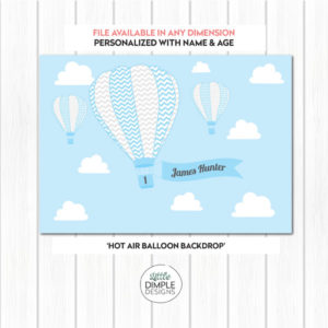 Hot Air Balloon Backdrop