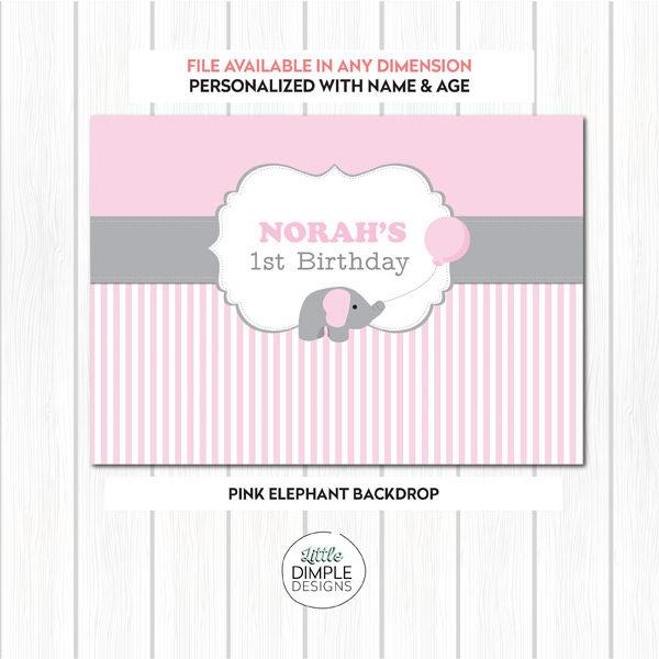 Pink Elephant Backdrop
