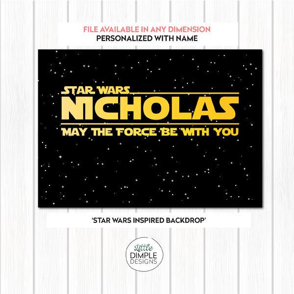 Star Wars Inspired Backdrop