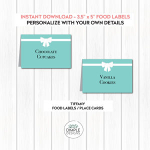 Tiffany and Co. Inspired Food Labels