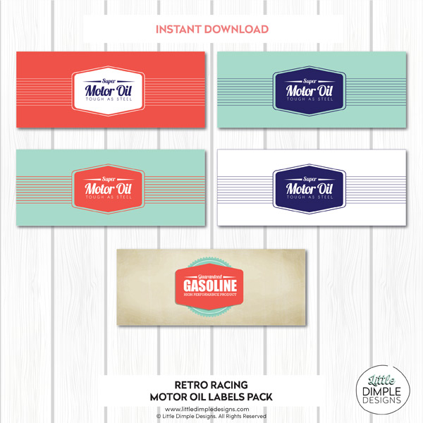 Motor Oil Can Wrappers Printable Little Dimple Designs