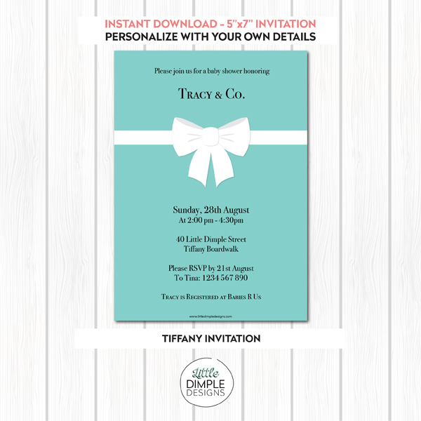 Tiffany Invitation