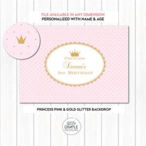 Princess Pink Gold Backdrop