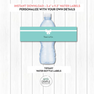 Tiffany Water Labels