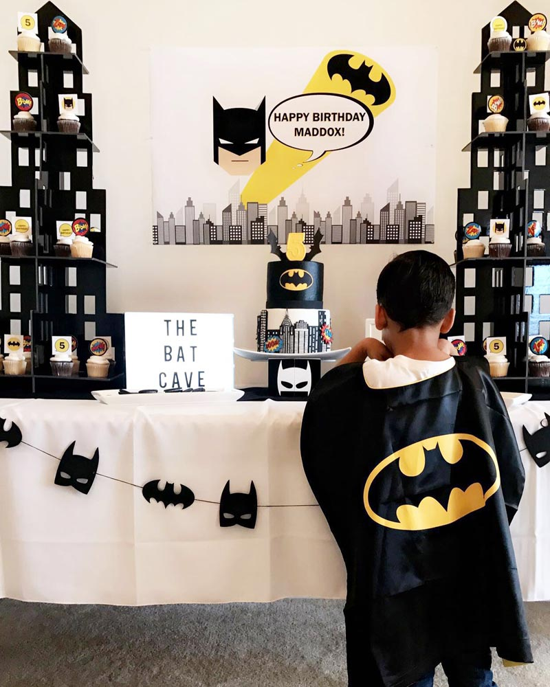 Batman Birthday Party Candy Buffet Ideas Little Dimple