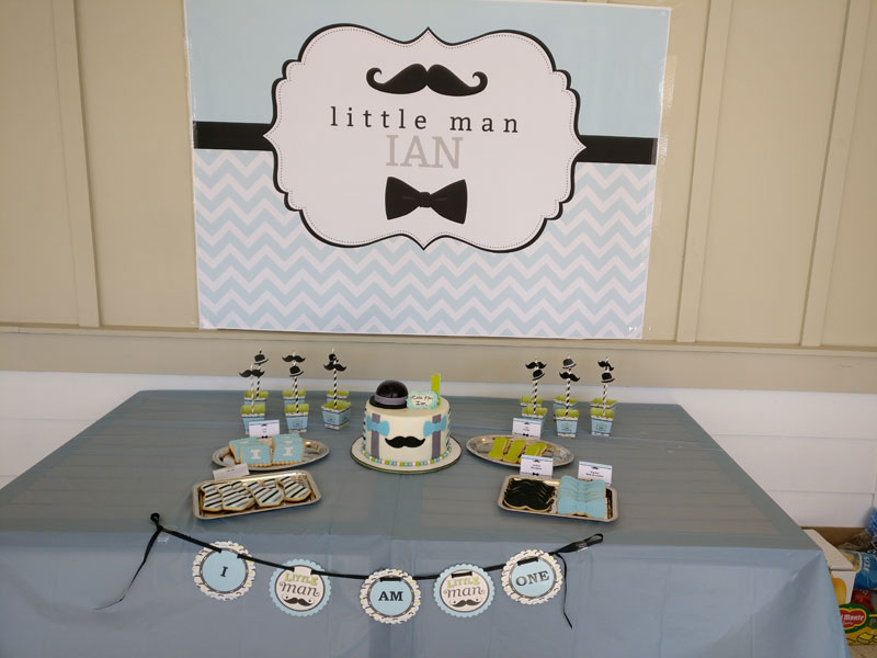 Little Man 1st Birthday Banner