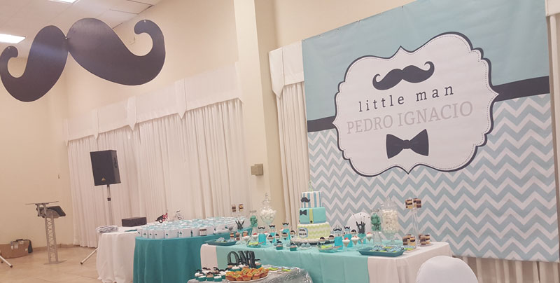 Little Man Mustache Banner